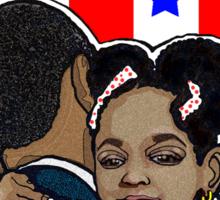 DEMOCRATIC CAMPAIGN 2012: OBAMA'S EMBRACE Sticker