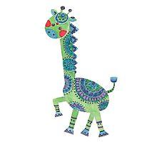 The Green Giraffe Photographic Print