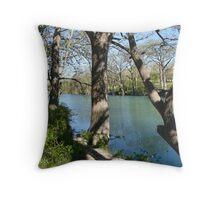 The Blanco River Throw Pillow