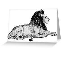 Lion Print Greeting Card