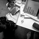 My Desk, My Feet, My Dog by Luckyvegetable