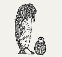 emperor penguin sketch by Hinterlund