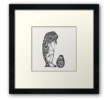 emperor penguin sketch Framed Print