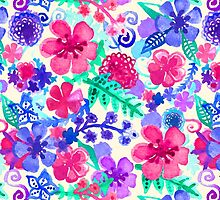 Fresh Watercolor Floral Pattern by Tangerine-Tane