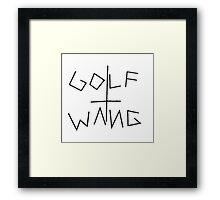Golfwang Framed Print