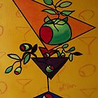 Cheerful Yellow Funky Martini by Nathalie Van