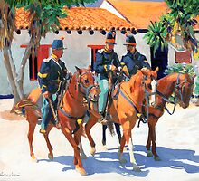 Soldiers in Old Town San Diego by Riccoboni by RDRiccoboni