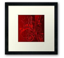 red grunge Framed Print