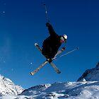 Skier, Tigne, france by Greig  Cowie