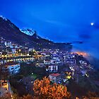 Night falling in Arachova & Parnassos mountain by Hercules Milas