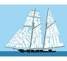 Tops'l Schooner Sail/Spar Plan Photographic Print