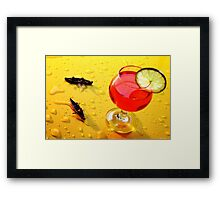 Boating Around A Red Cup Framed Print