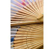 Oriental wooden fan Photographic Print