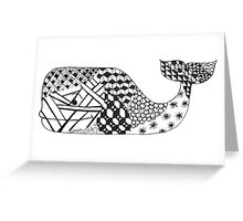 Zentangle Whale Greeting Card