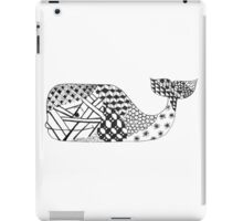 Zentangle Whale iPad Case/Skin