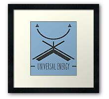 Universal Energy - Typography and Geometry Framed Print