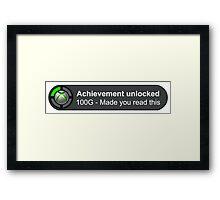 Achievement Unlocked Framed Print