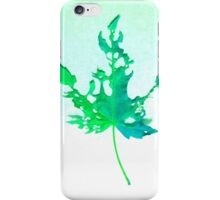 Somebody had Leaf for Lunch – Green Two iPhone Case/Skin