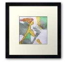 mermaid sleep Framed Print