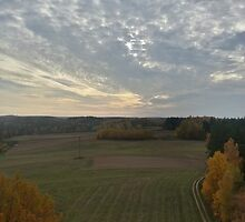 Lithuanian village panorama, from tower by Generator