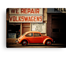 We Repair Volkswagens Canvas Print