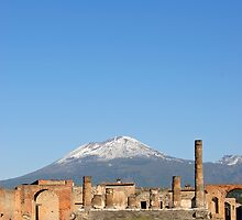 Temple of Jupiter and Mt Vesuvius, Pompeii  by Petr Svarc