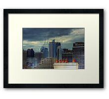 Gotham City - Rooftop View CBD of Sydney, Australia Framed Print
