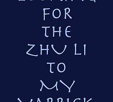 Zhu Li to my Varrick  by lokibending