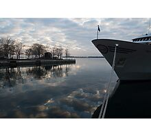 Serene Morning at the Harbor Photographic Print