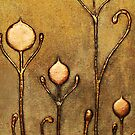 ABSTRACT BOTANICAL NOUVEAU COLLECTION ~ GOLD TULIPS by LacewingDesign