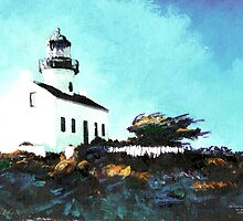 Old Point Loma Light House by RD Randy Riccoboni by RDRiccoboni