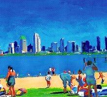 Beach at Ferry Landing - View of San Diego by RDRiccoboni