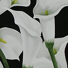 CALLA LILIES ~ OIL ON CANVAS by LacewingDesign