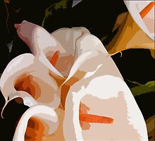 CALLA LILIES ~ OIL ON CANVAS ~  by LacewingDesign