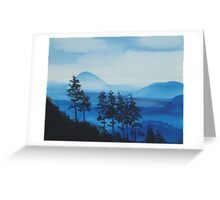 MOONLIGHT AND MOUNTAINS  ~ ACRYLIC ON CANVAS Greeting Card