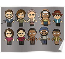 The Walking Dead - Main Characters Chibi - AMC Walking Dead Poster
