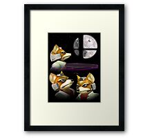 Three Fox Moon Framed Print