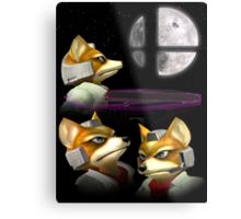 Three Fox Moon Metal Print