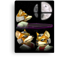Three Fox Moon Canvas Print
