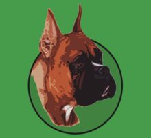 BOXER DOG PORTRAIT GREEN by SofiaYoushi