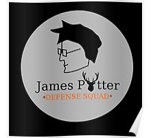 James Potter Defense Squad- Black background Option Poster