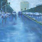 Rainy Day Traffic by Estelle O'Brien