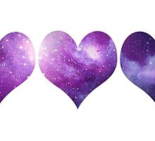 Galaxy Hearts by CraftyCreepers
