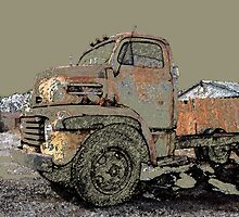 Rusted Truck at Copper Lumber by peggywright