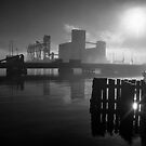 Morning Fog, Islais Creek Channel by James Watkins