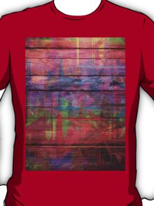 Abstract painted wood T-Shirt