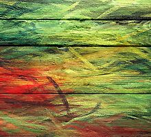Abstract painted wood #3 by Nhan Ngo