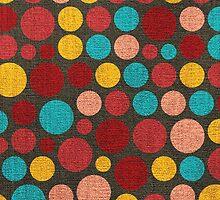 Retro polka dot painted canvas #2 by Nhan Ngo