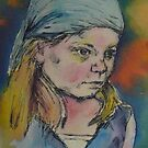 girl in a blue scarf by christine purtle