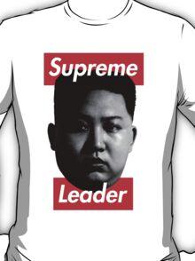 Kim Jong-Un Supreme Leader - Supreme Parody T-Shirt